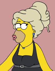 Homer in drag by Ikatsui129