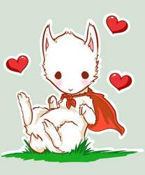 Super Albino Llama by Kizagui
