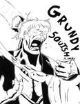 Grundy vs Batman