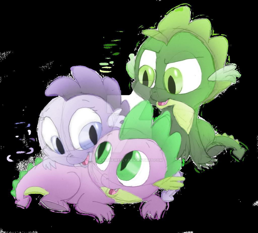 Pearl, Spike, and Smokey by FaithFirefly on DeviantArt
