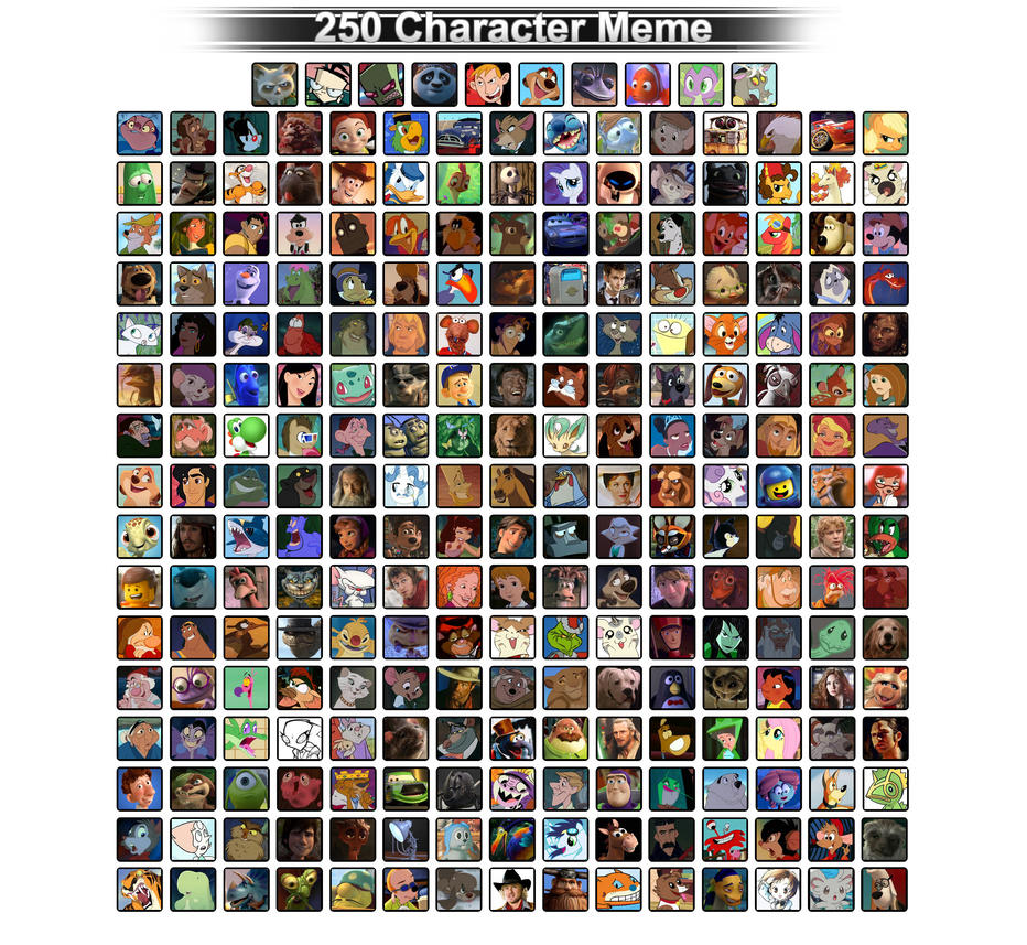 250 Favorite Characters by FaithFirefly