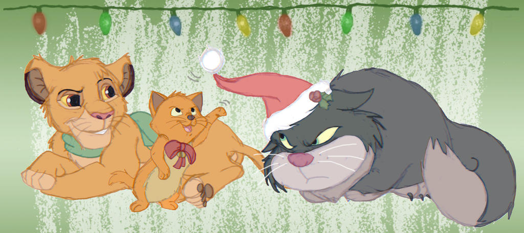 DD Secret Santa 2014 - Christmas Kitties by DolphinMoana