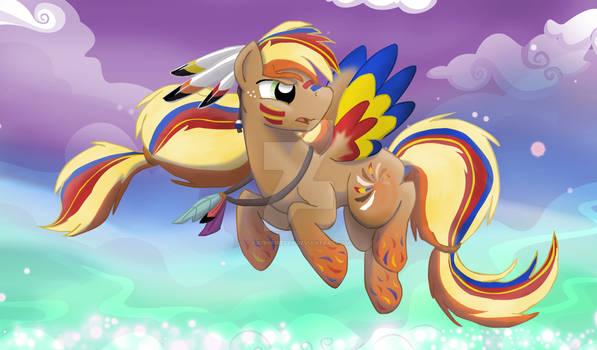 The War Stallion - Rainbow Powered Kestrel