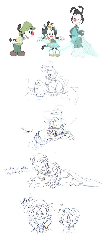 Frozen/Animaniacs AU - Frozen Fever Sketch Dump by FaithFirefly