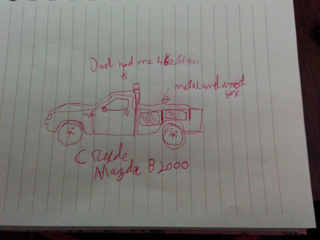 Crude Mazda B2000 pickup truck by techboy411