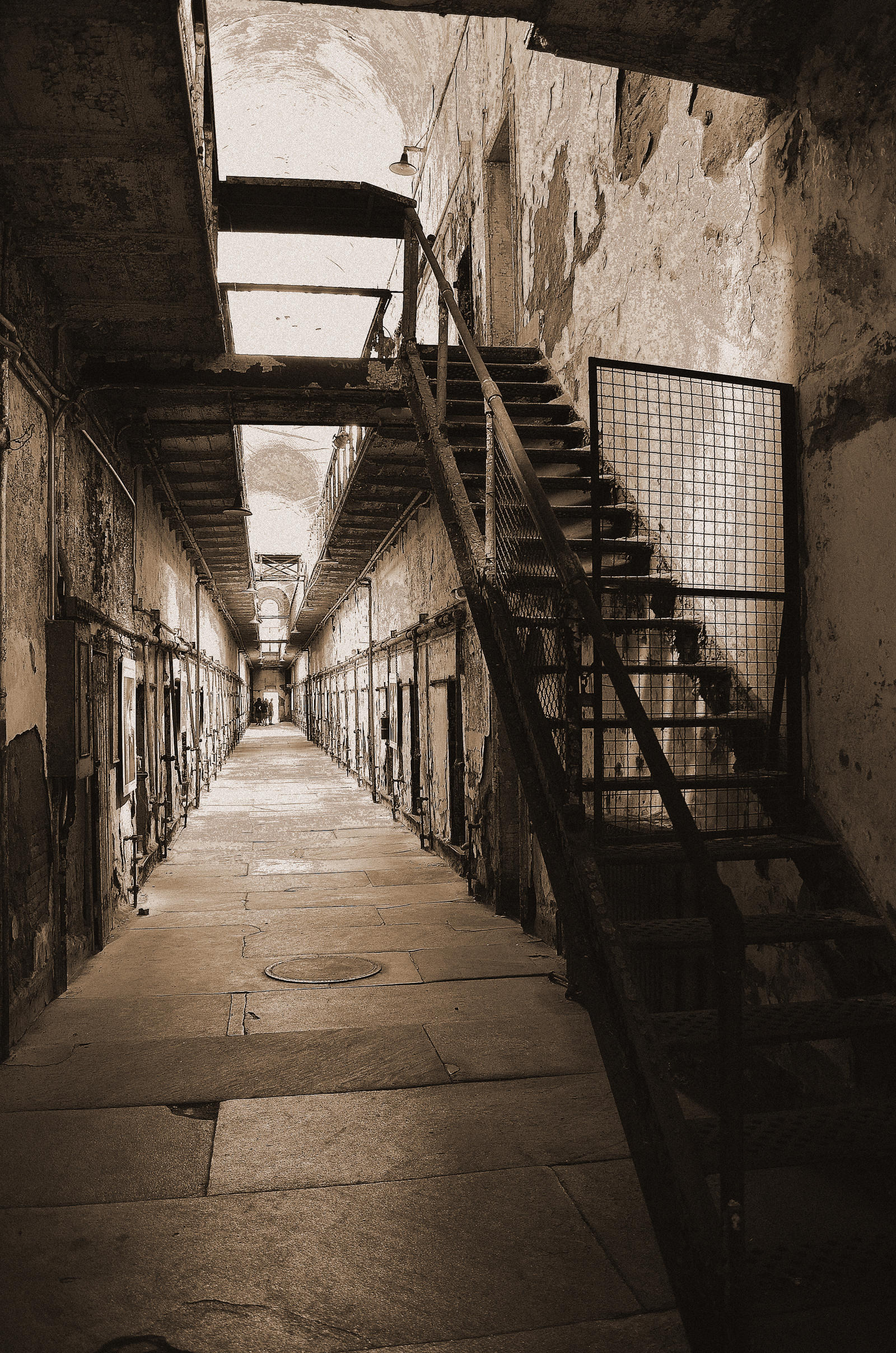 Eastern State Pen Hallway and Locked Stairway by PAlisauskas