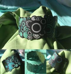 Jewelry: Bracelet 003, 'Green Crop Circles' by 4pplemoon