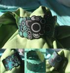 Jewelry: Bracelet 003, 'Green Crop Circles'