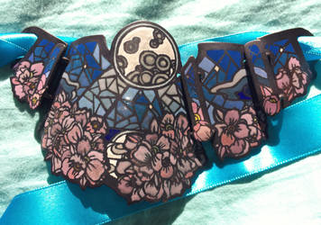 Jewelry: Necklace 001, 'Stained Glass Night Garden by 4pplemoon