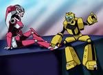 TFA:  Arcee and Bumblebee by mystryl-shada
