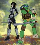 Karai and Leo sketch by mystryl-shada