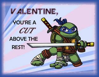 TMNT: Leonardo Valentine by mystryl-shada