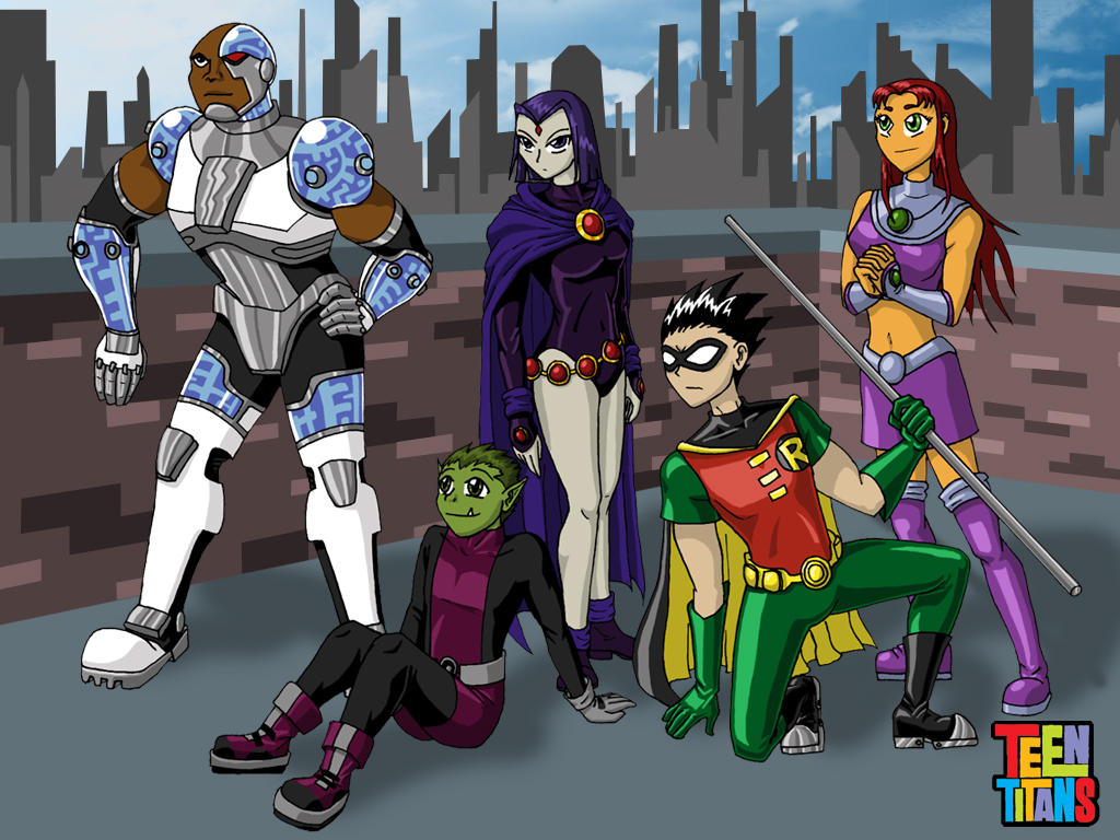 Teen Titans Wallpaper by ~mystryl-shada on deviantART
