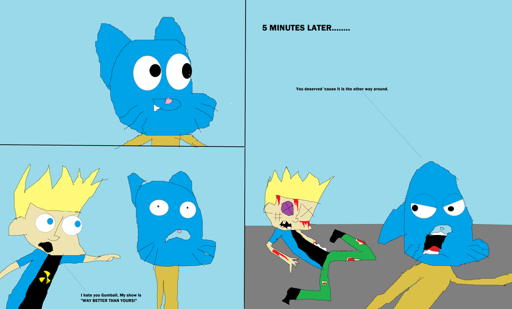 Johnny Test Hates Gumball By Mippytrippy On DeviantArt