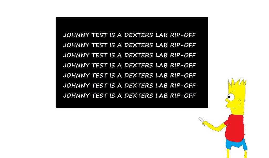 Bart Writes About Johnny Test By Mippytrippy On Deviantart