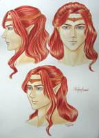 Character design - Maedhros-head by elenyanar