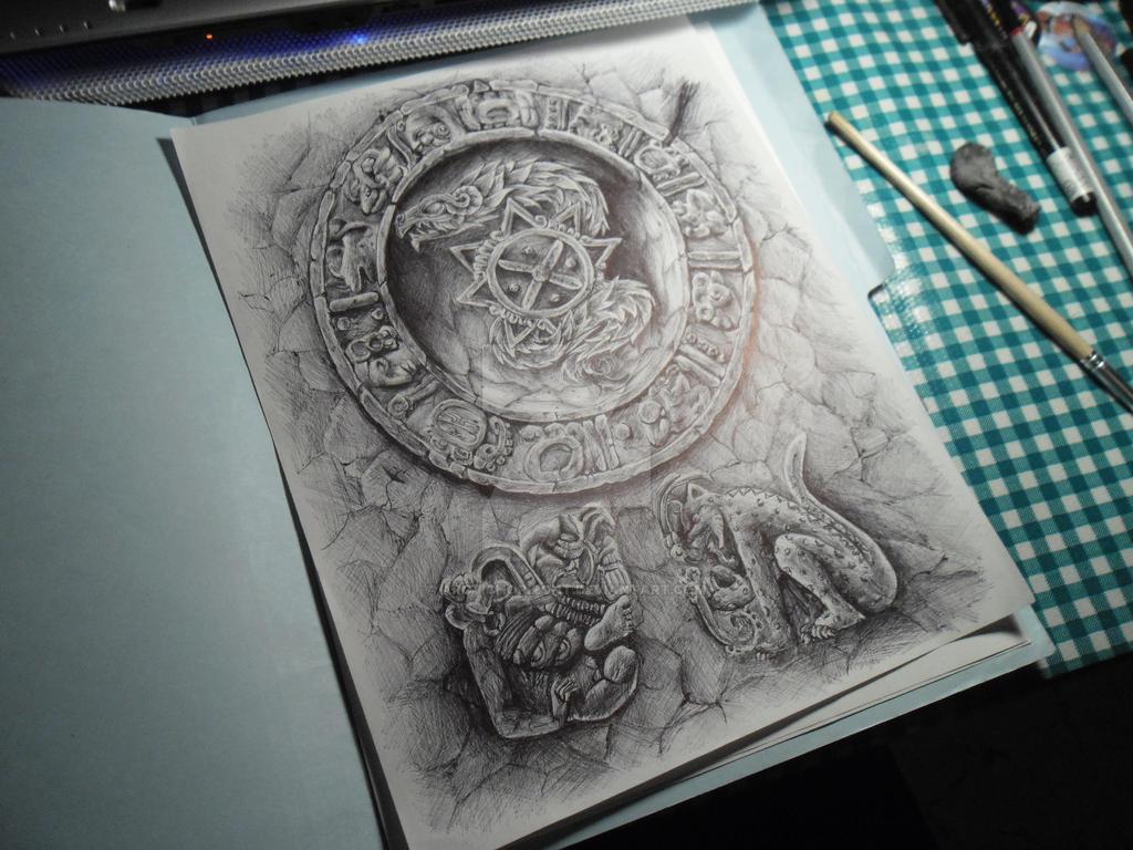 mayan tattoo design by arctichorizont on deviantart. Black Bedroom Furniture Sets. Home Design Ideas