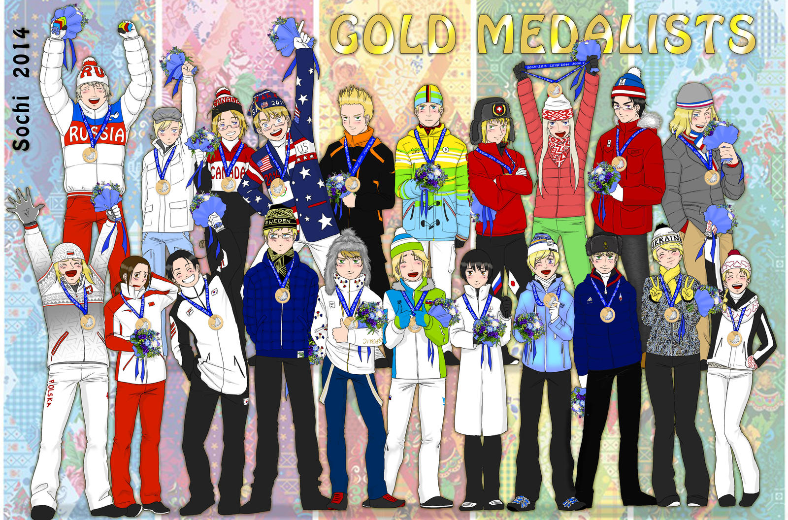 Golden Medalist of sochi by Janemin