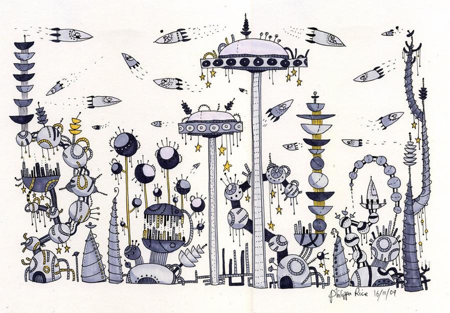 Grey city by philippajudith