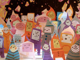 Paper People Crowd