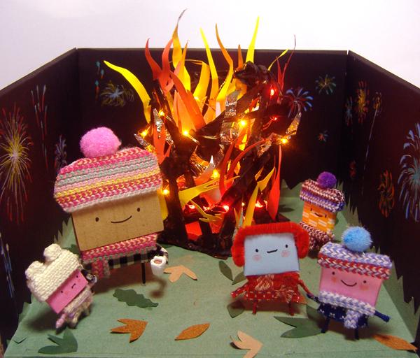 Bonfire Night Diorama by philippajudith
