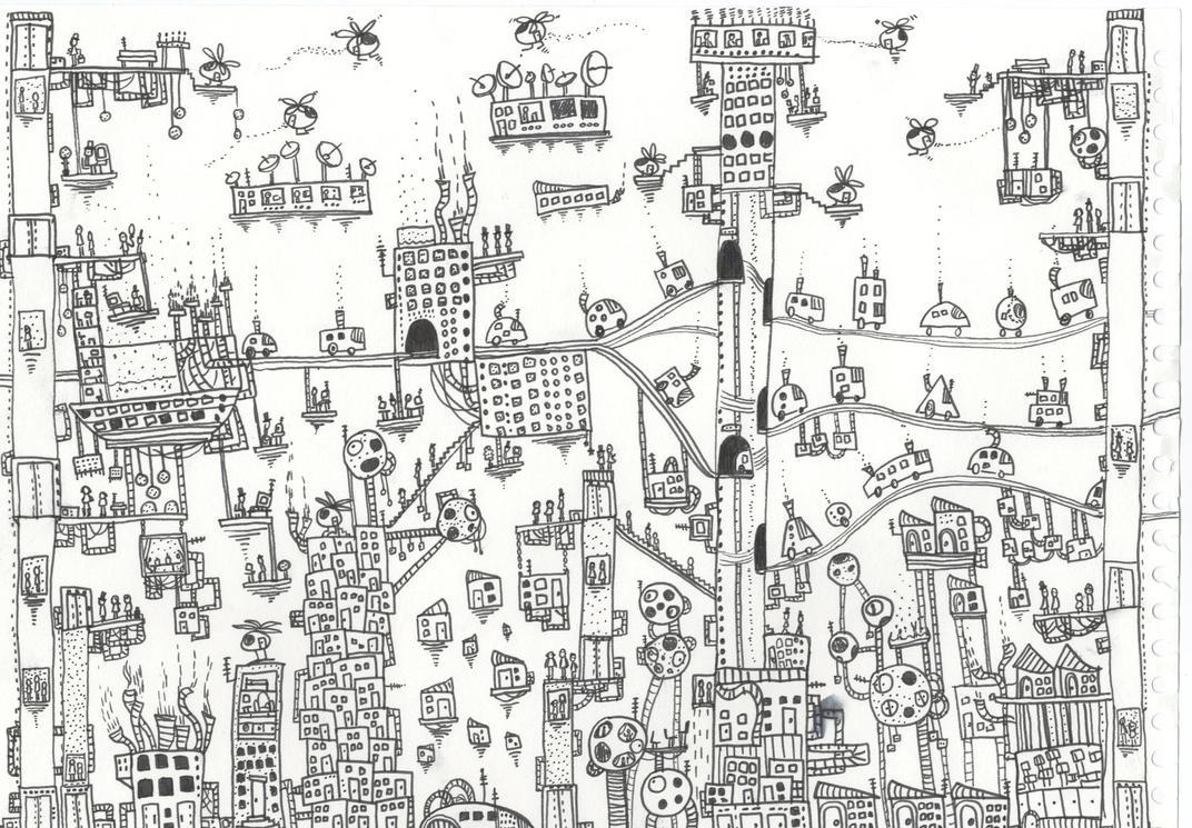 futuristic city by philippajudith
