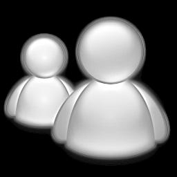 Mac Messenger Gray Icon by RicardoLuis