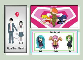 +Parody Bookmarks Set+ by hikarinosekai