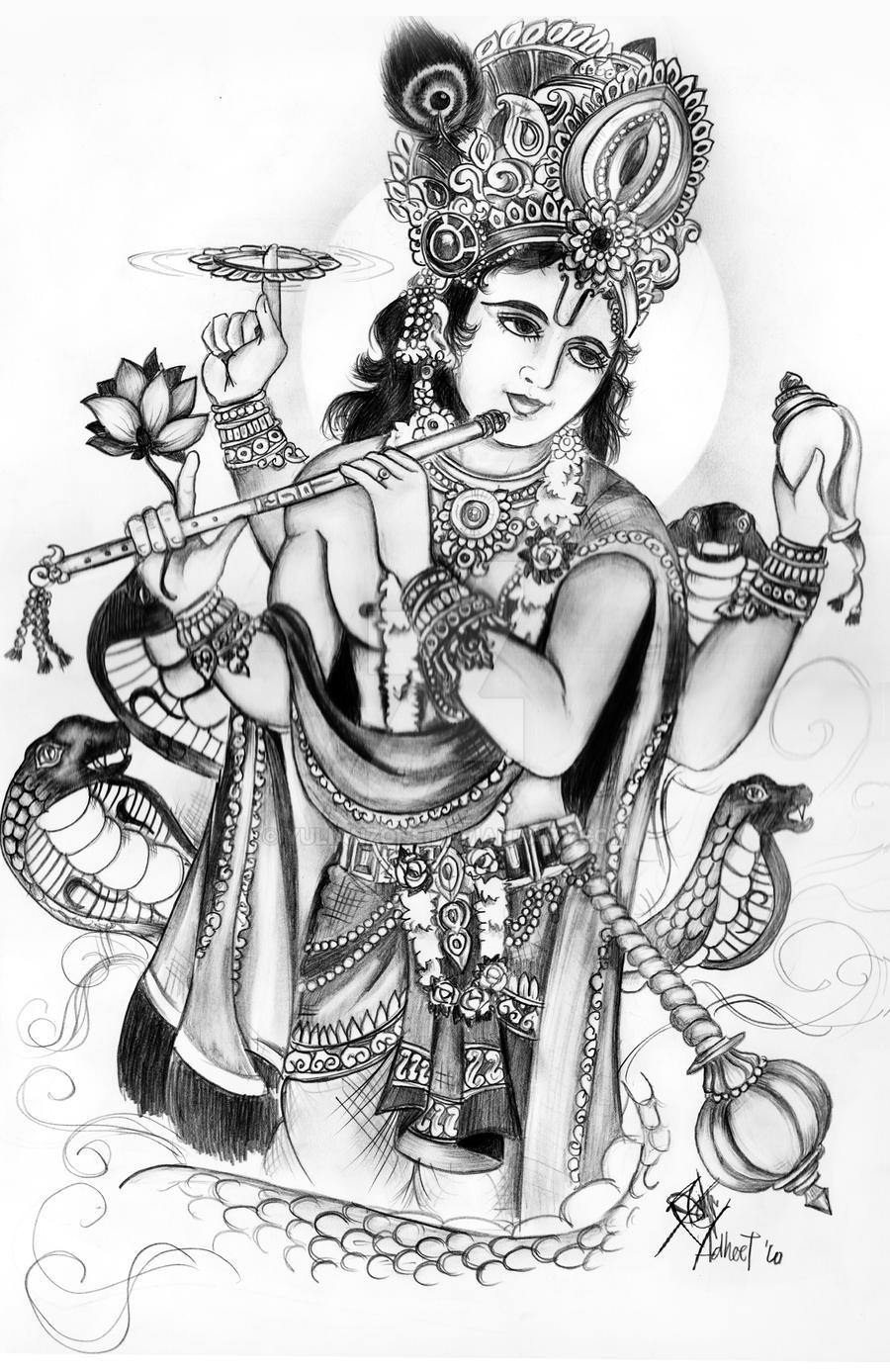 lord vishnu coloring pages - photo#36