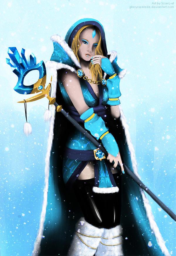 dota 2 crystal maiden by glacyroserade on deviantart