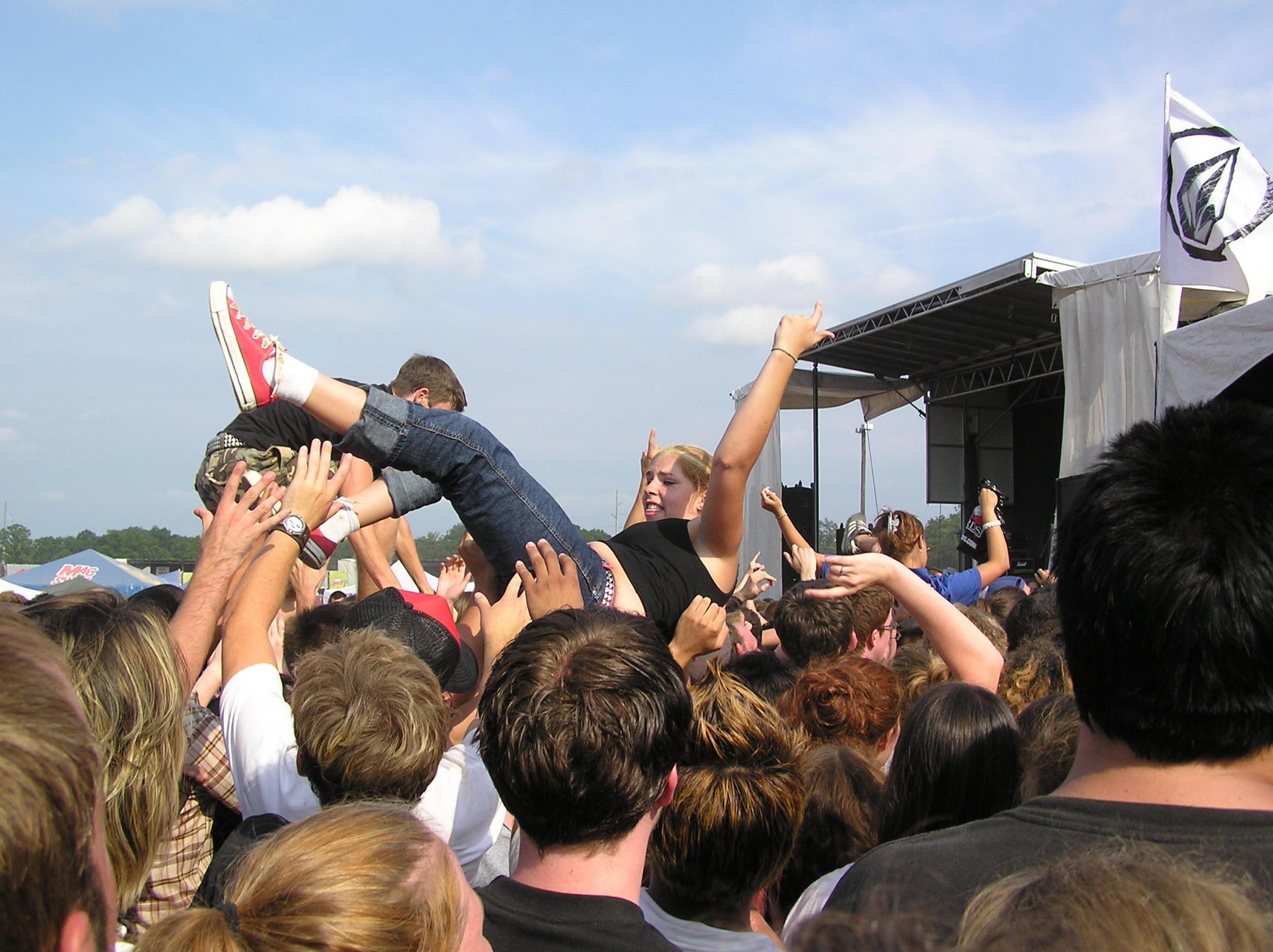 Warped Tour Crowd Surfing