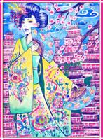Kimono girl by Mobicca