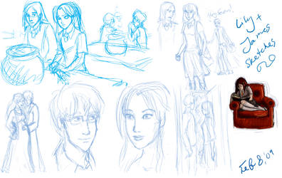 Lily y James sketches by nutella-frogs