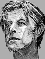 David Bowie sketch by PE-robukka