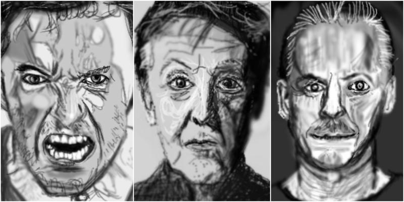 three sketches by PE-robukka