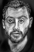 Pixels blur portrait by PE-robukka