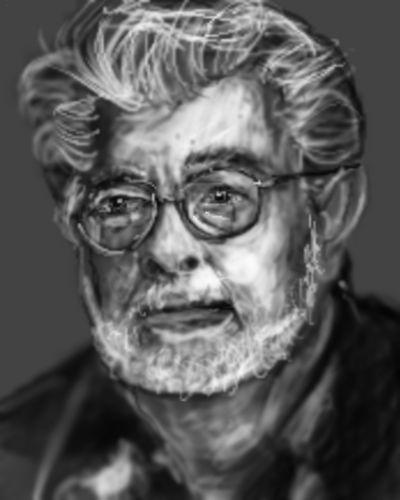 George Lucas pixels sketch by PE-robukka