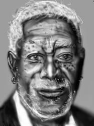 Sketching portrait by PE-robukka
