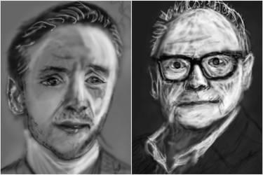 sketching pixels portraits by PE-robukka