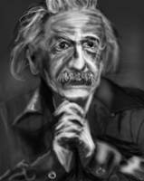 Albert Einstein sketch by PE-robukka