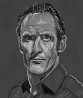 Man sketch in pixels portrait by PE-robukka