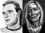 sketching portraits