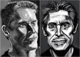 Willem Dafoe sketches