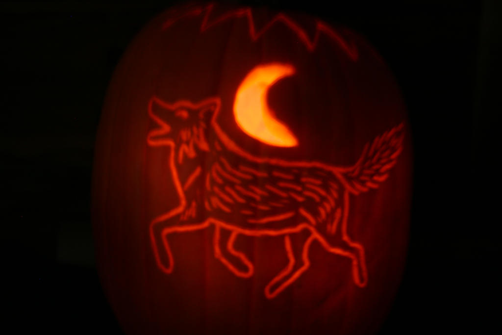 Wolf Pumpkin 2012 by VeronicaRosejones