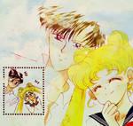 Manga Coloring: Sailor Moon: Usagi and Mamoru