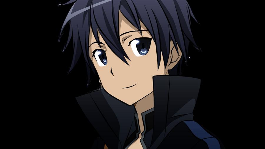 Lineart Coloring: Sword Art Online: Kirito by bakaprincess85
