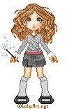 Pixel Doll: Hermione Granger by bakaprincess85