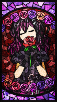 Stained Glass Art | SWD: BLOOD IN ROSES+