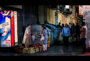 Dumpster-side Fruit Seller by MARX77