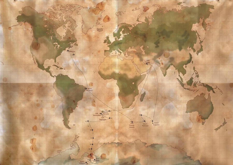 Arthur Gordon Pym Map by VioletBlast